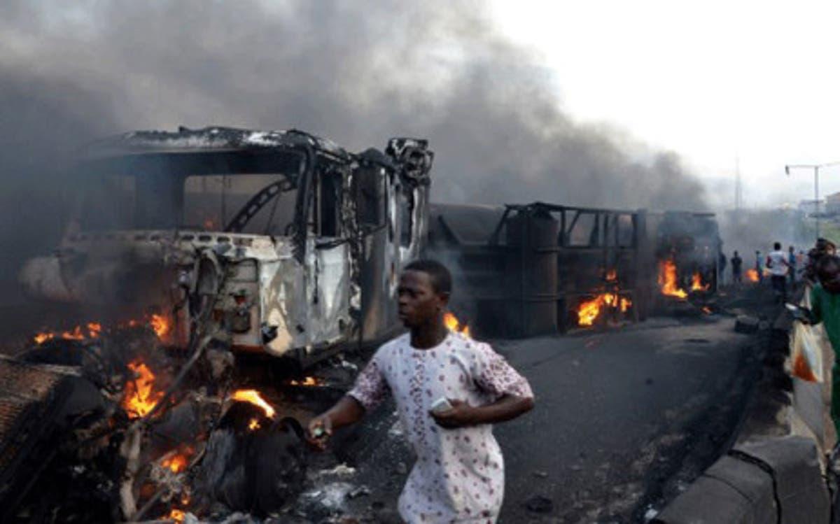 Image result for Tanker truck explosion in Niger kills 55, injures 36 others
