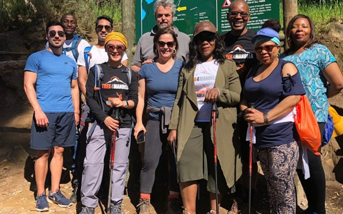 Thuli Madonsela & other Trek4Mandela teammates summit Kilimanjaro