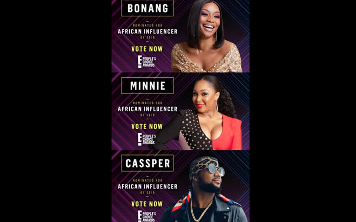Bonang, Minnie & Cassper nominated for E! People's Choice Awards