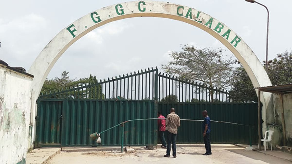 Main Entrance, FGGC Calabar. Photo: Punch