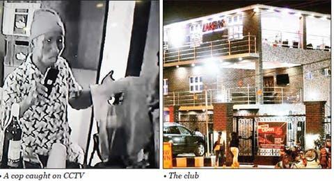 CCTV footage exposes policemen who raided Lagos night club