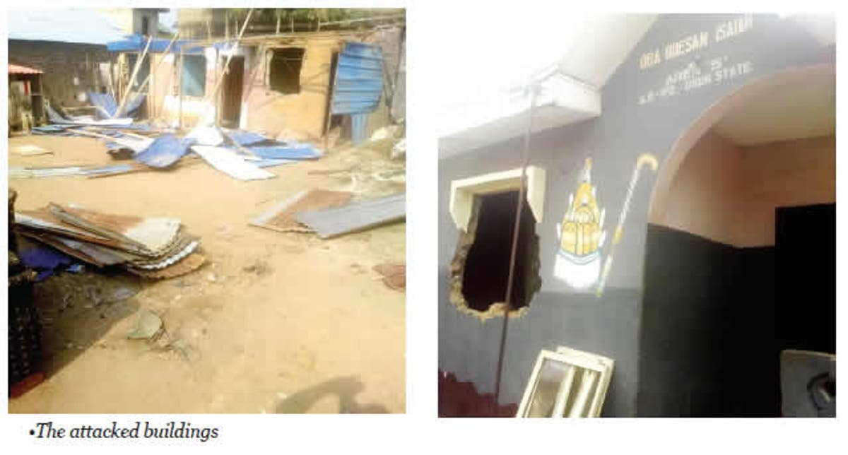 Image result for Hoodlums invade monarch's compound in Ogun, burgle houses