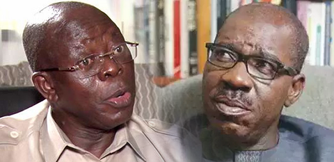 Obaseki sacked the only commissioner I nominated in his cabinet- Oshiomhole