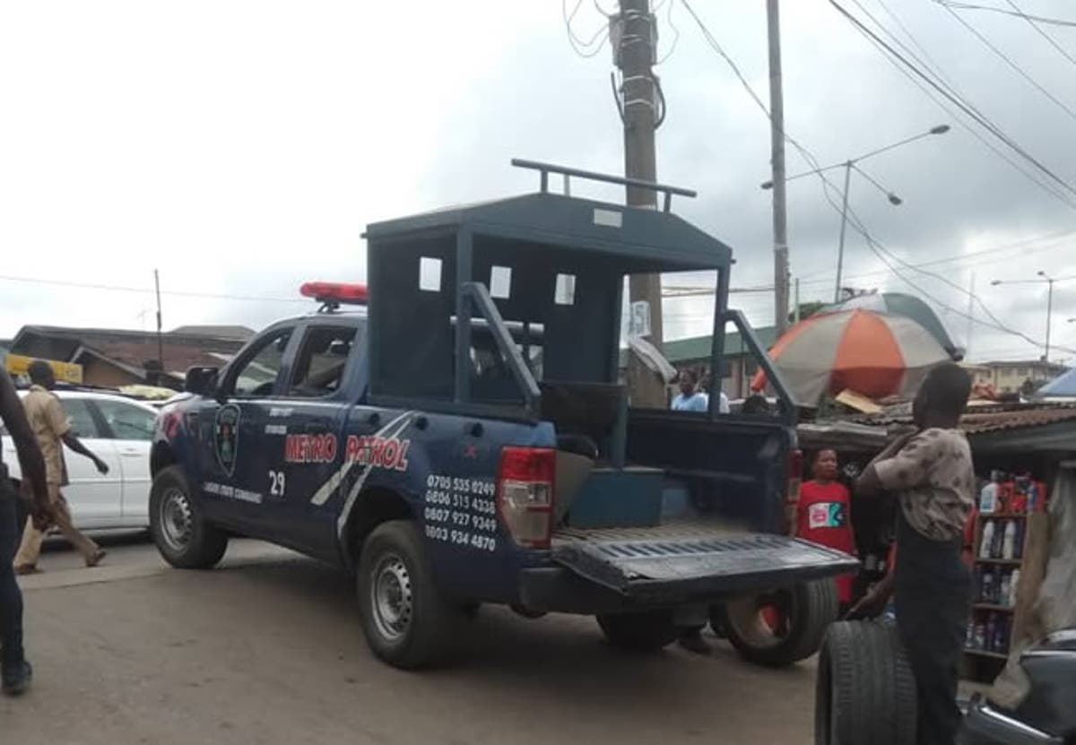 Image result for soyinka police barricade