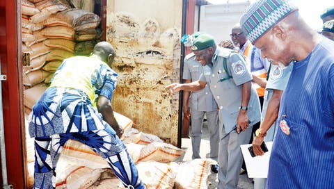 Customs intercept 34 containers of rice at port