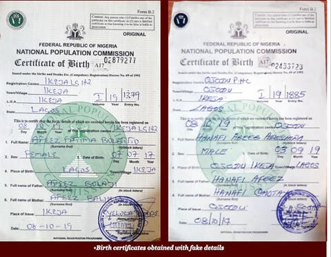 Govt centres where 'fake' babies get original birth certs for N1,000