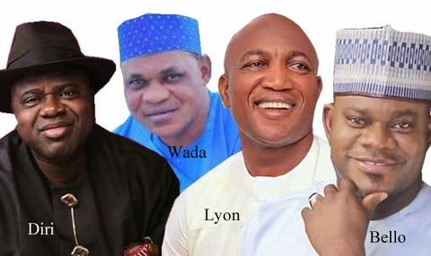 Bayelsa/Kogi elections: Bello, Wada, Diri, Lyon clash in eight battleground LGAs