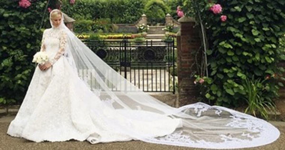 67f63fb22 أجمل 15 فستان زفاف فى العالم خلال 2015.. اثنين منهم لمصممين عرب - اليوم  السابع