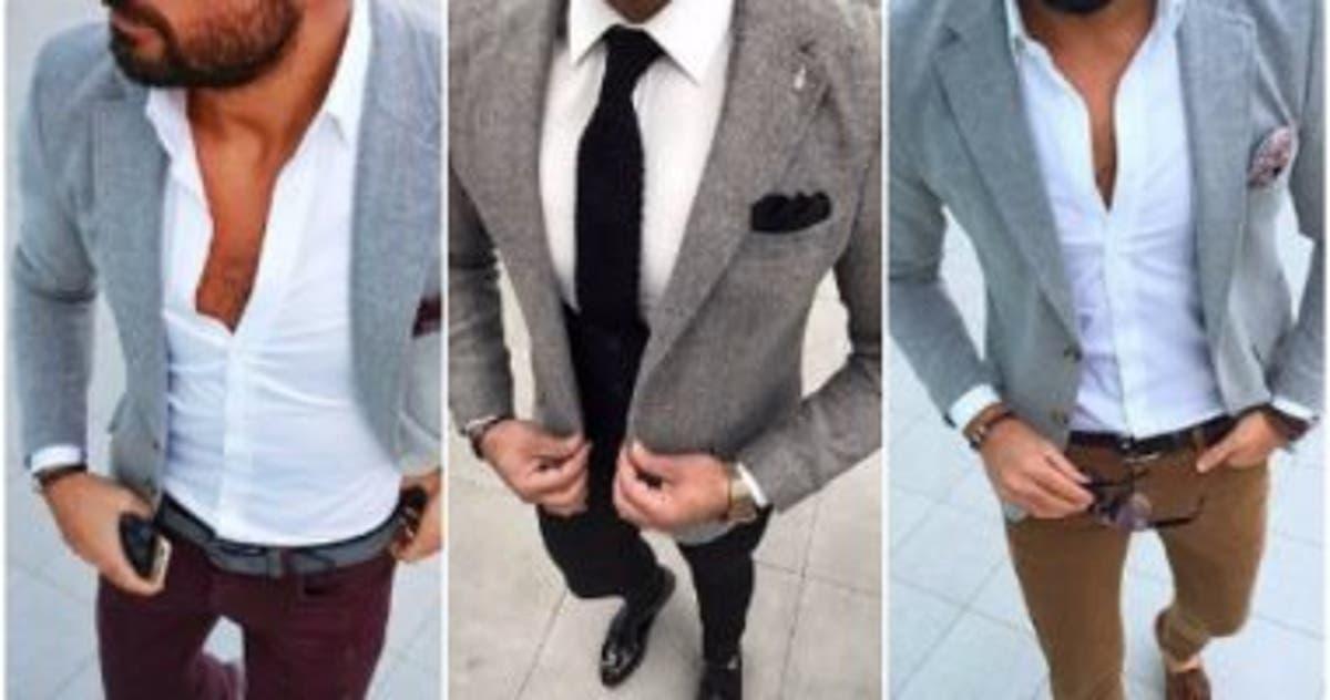 8d34fd106 قاموس الموضة الرجالى.. ازاى تلبس البليزر الرمادى بـ 5 أشكال مختلفة - اليوم  السابع