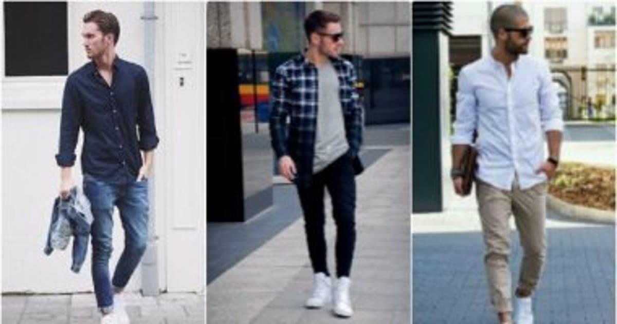 ff2e6e32c قاموس الموضة الرجالى..بالصور..ازاى تلبس الكوتشى الأبيض بـ 5 طرق مختلفة -  اليوم السابع