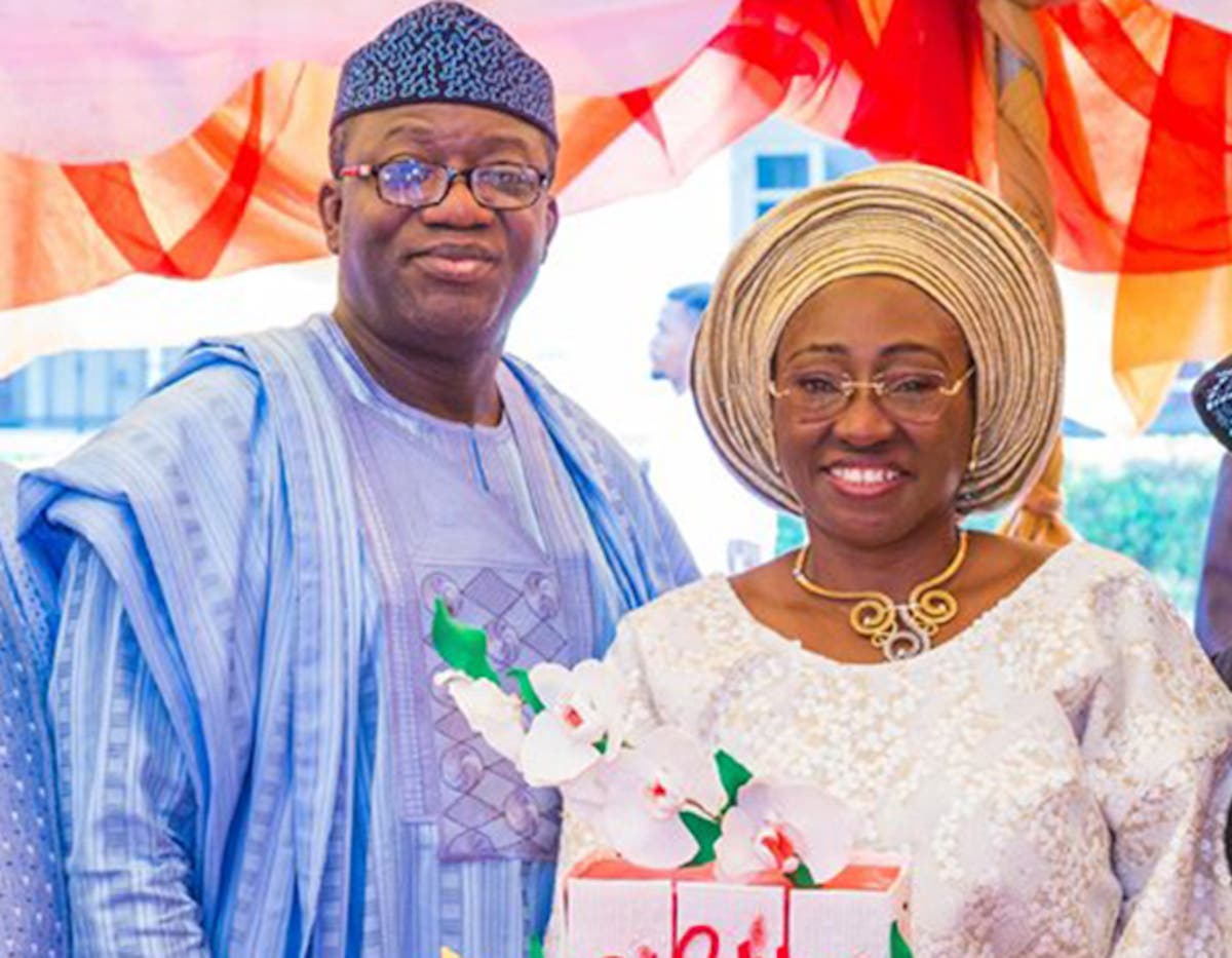 Dr. Kayode Fayemi and Mrs. Bisi Fayemi. Photo: Head Topics